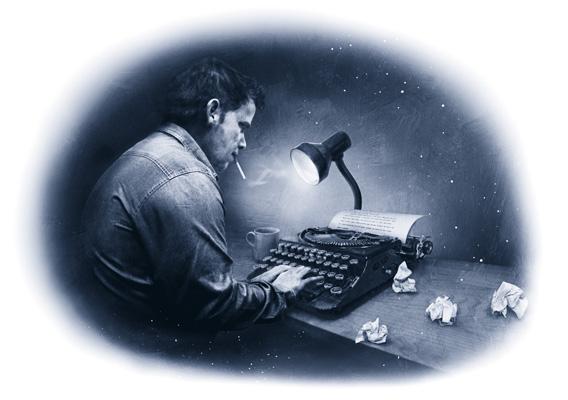 jack at the typewriter_duotone